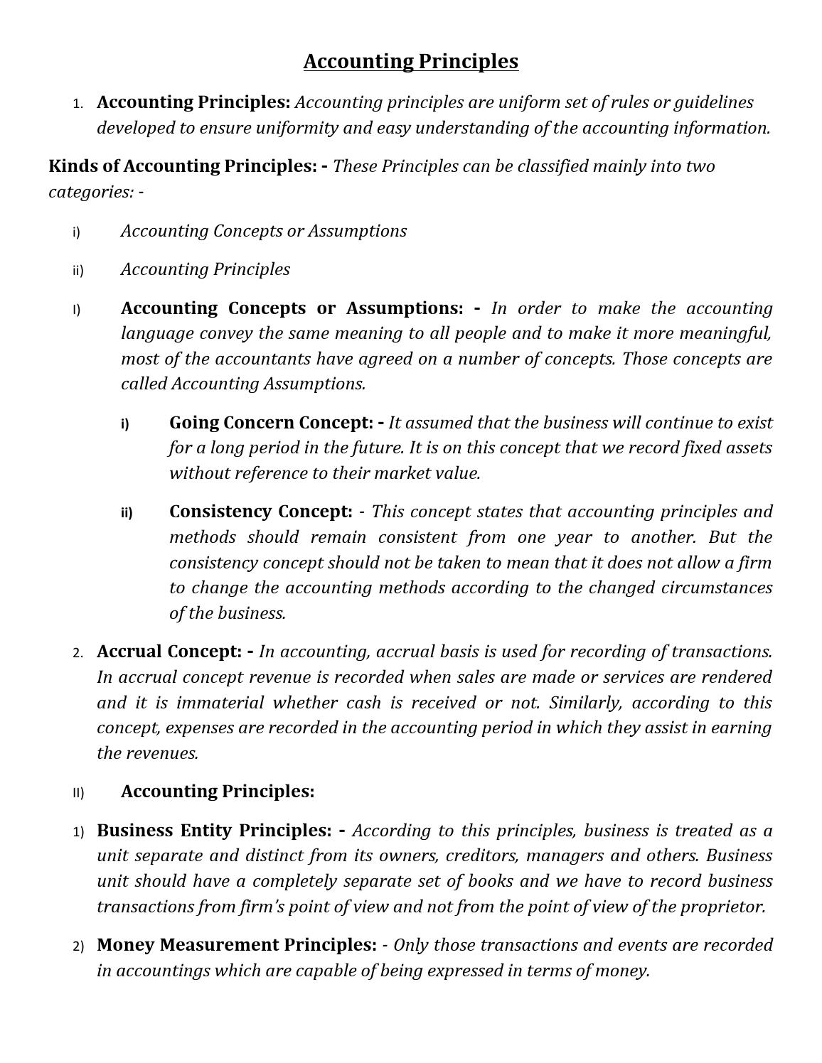 principle of accounting 1 Financial and managerial accounting principles basic accounting statements, processes, and management applications.