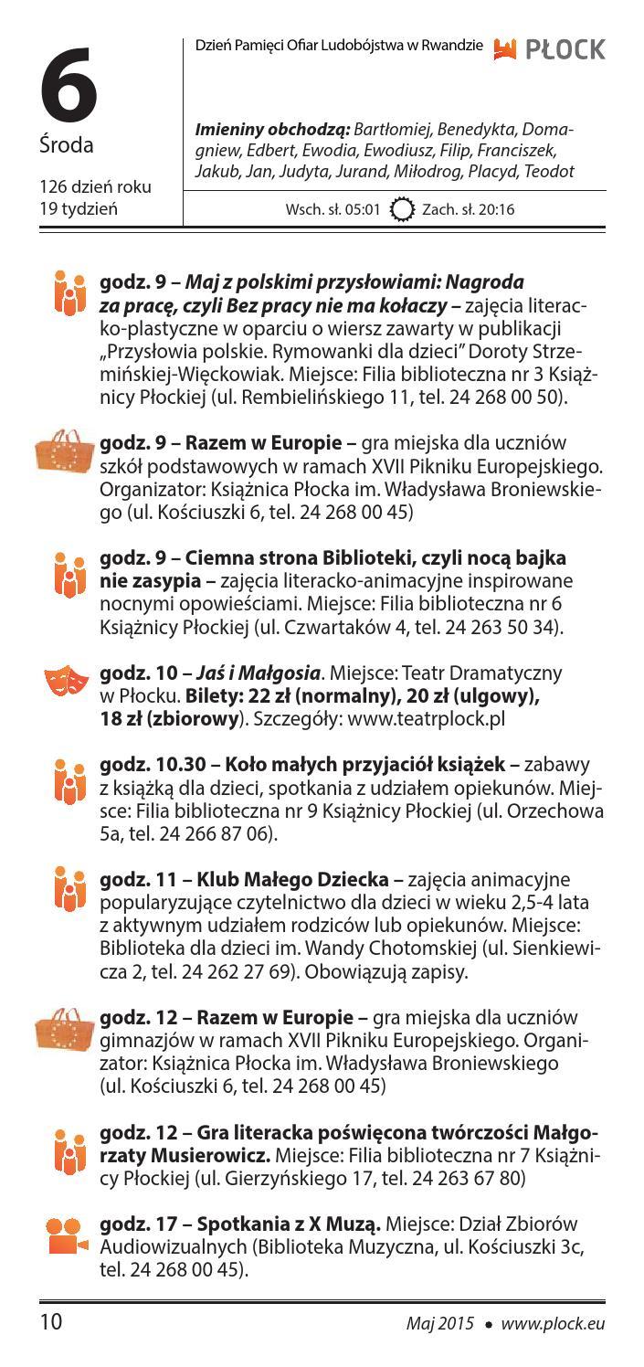 Miastożyje Nr 52015 By Płocki Ośrodek Kultury I Sztuki Issuu