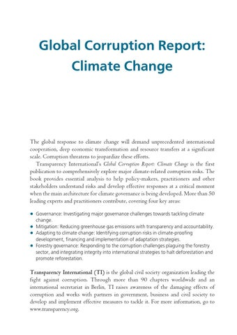 Global corruption report climate change by kspcb gok issuu page 1 malvernweather Images