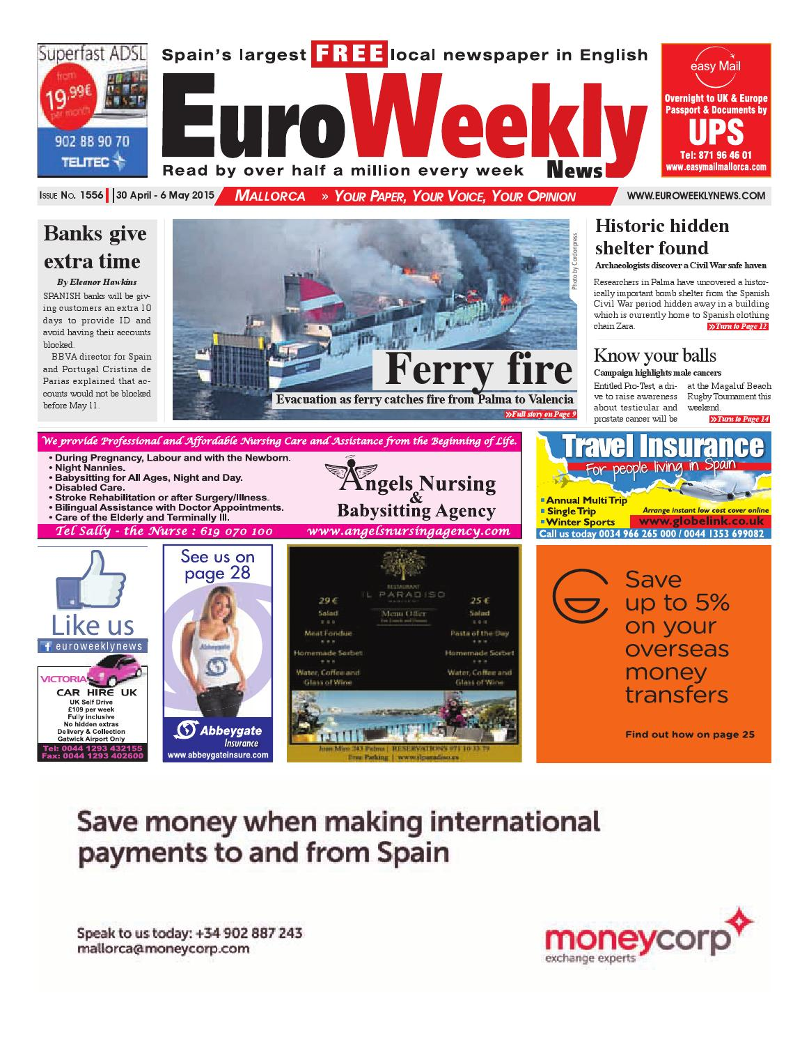 Euro weekly news mallorca 30 april 6 may 2015 issue 1556 by euro euro weekly news mallorca 30 april 6 may 2015 issue 1556 by euro weekly news media sa issuu fandeluxe Images