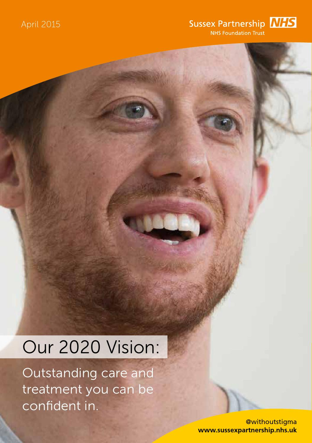 our 2020 vision final web by sussex partnership nhs
