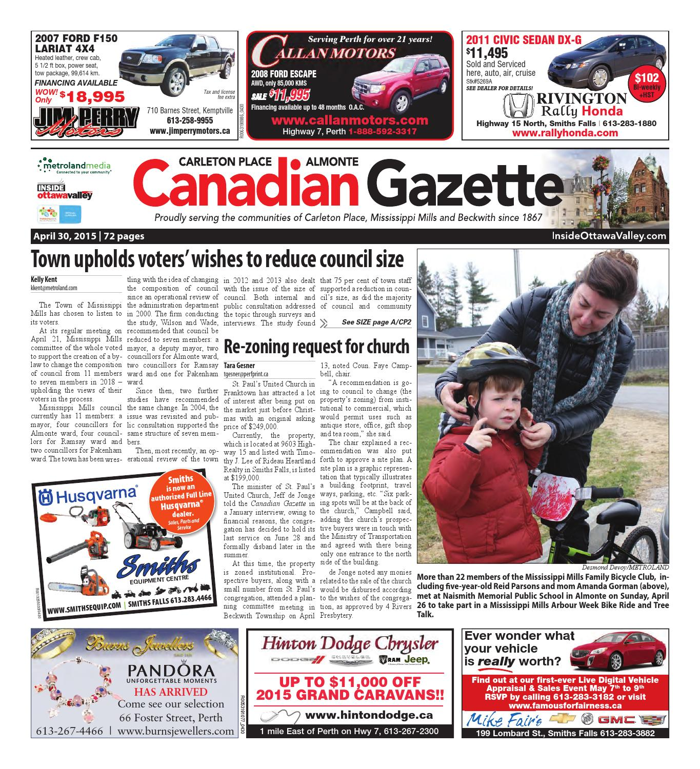 Almontecarletonplace043015 by Metroland East - Almonte Carleton Place  Canadian Gazette - issuu b1fdb5907