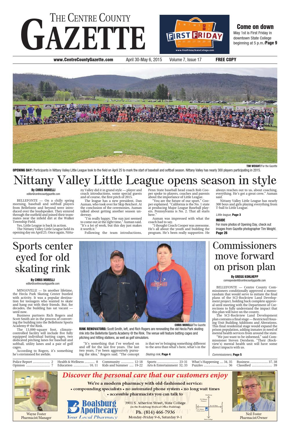 the centre county gazette april 30 2015 by indiana printing