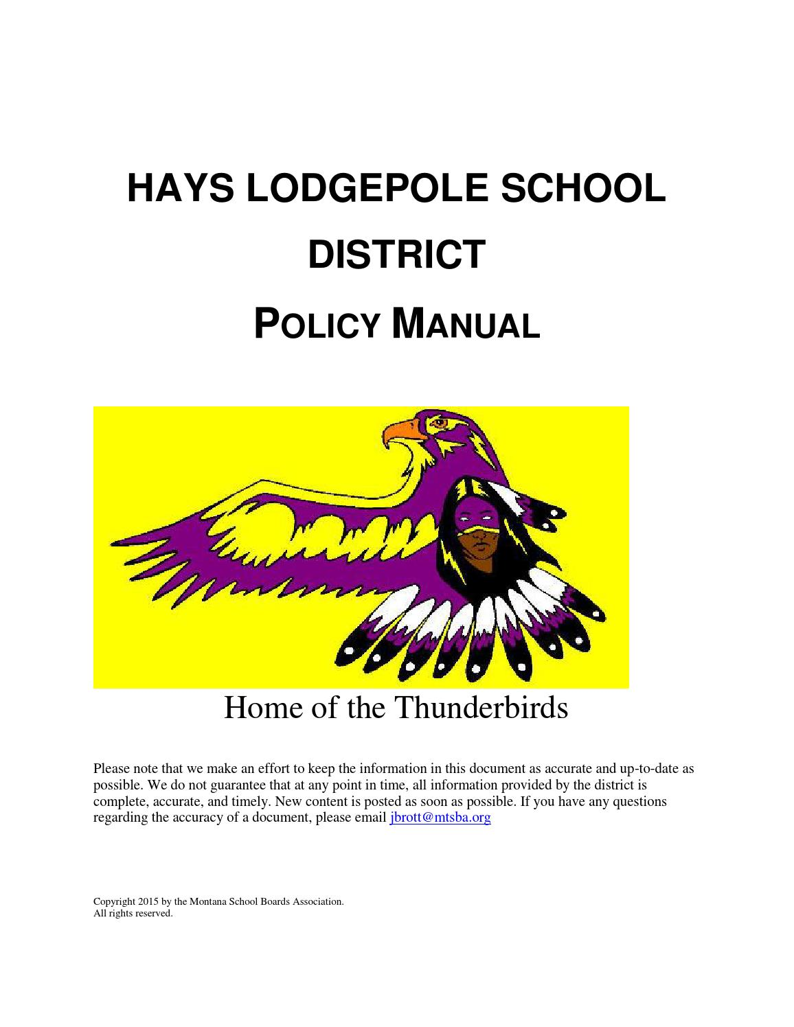 Montana blaine county hays - Hays Lodgepole School District Policy Manual By Montana School Boards Association Issuu