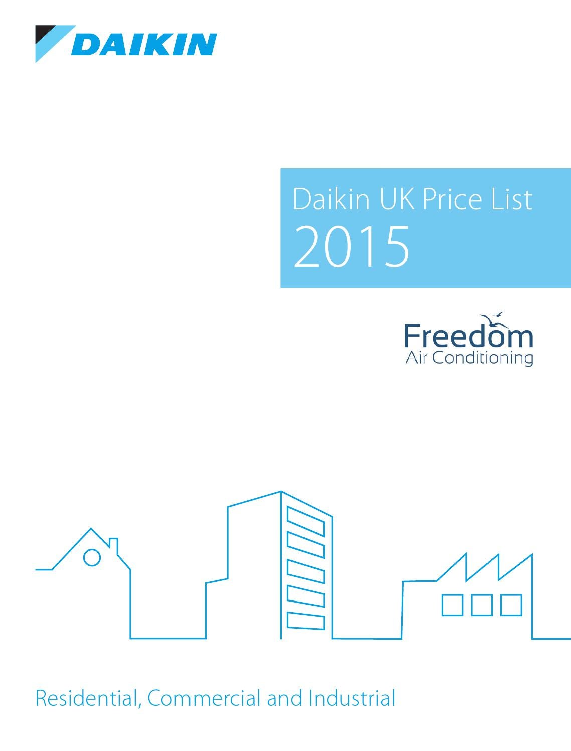 Freedom Ac Daikin 2015 Pricelist By Air Conditioning Issuu Board Service Test 1defrost Thermostat Defrost Circuit