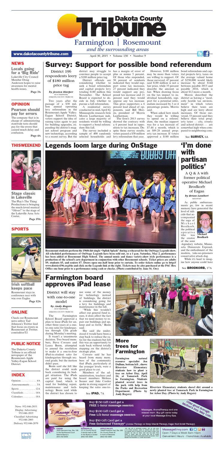 8fac64b19a27 Dct 4 30 15 by Dakota County Tribune - issuu