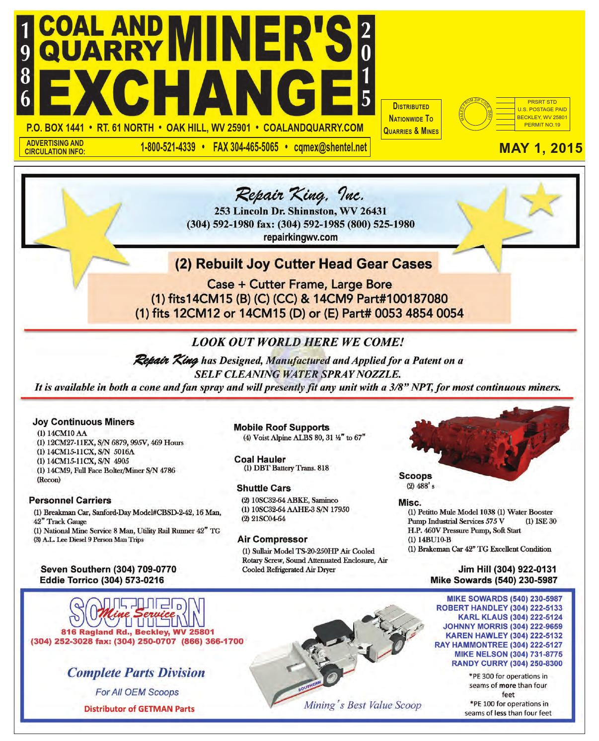 The Coal and Quarry Miner's Exchange - May 2015 by Northeast