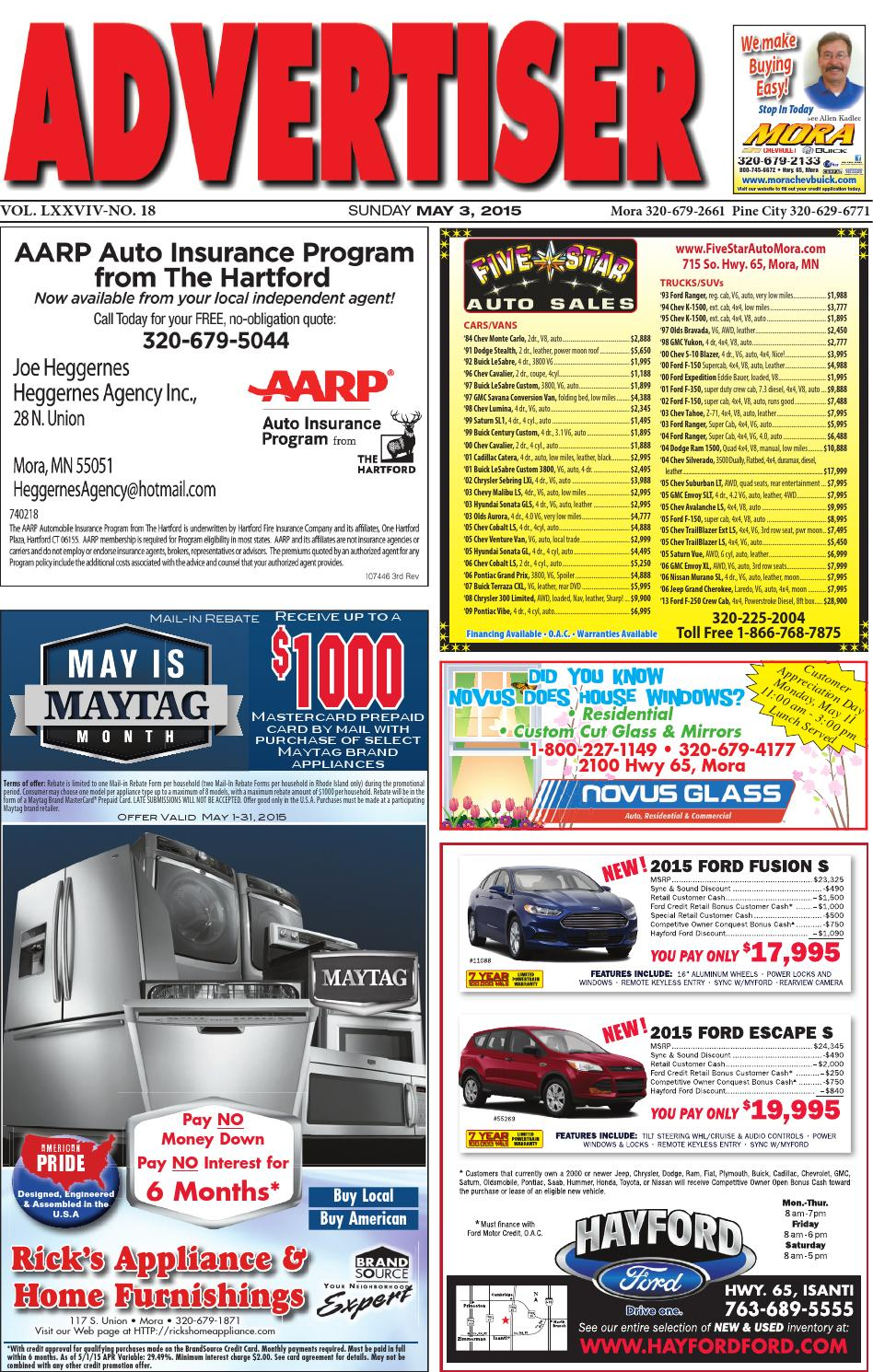c96f8d7f64 Mora Advertiser 5315 by Kanabec County Times Pine City Pioneer - issuu