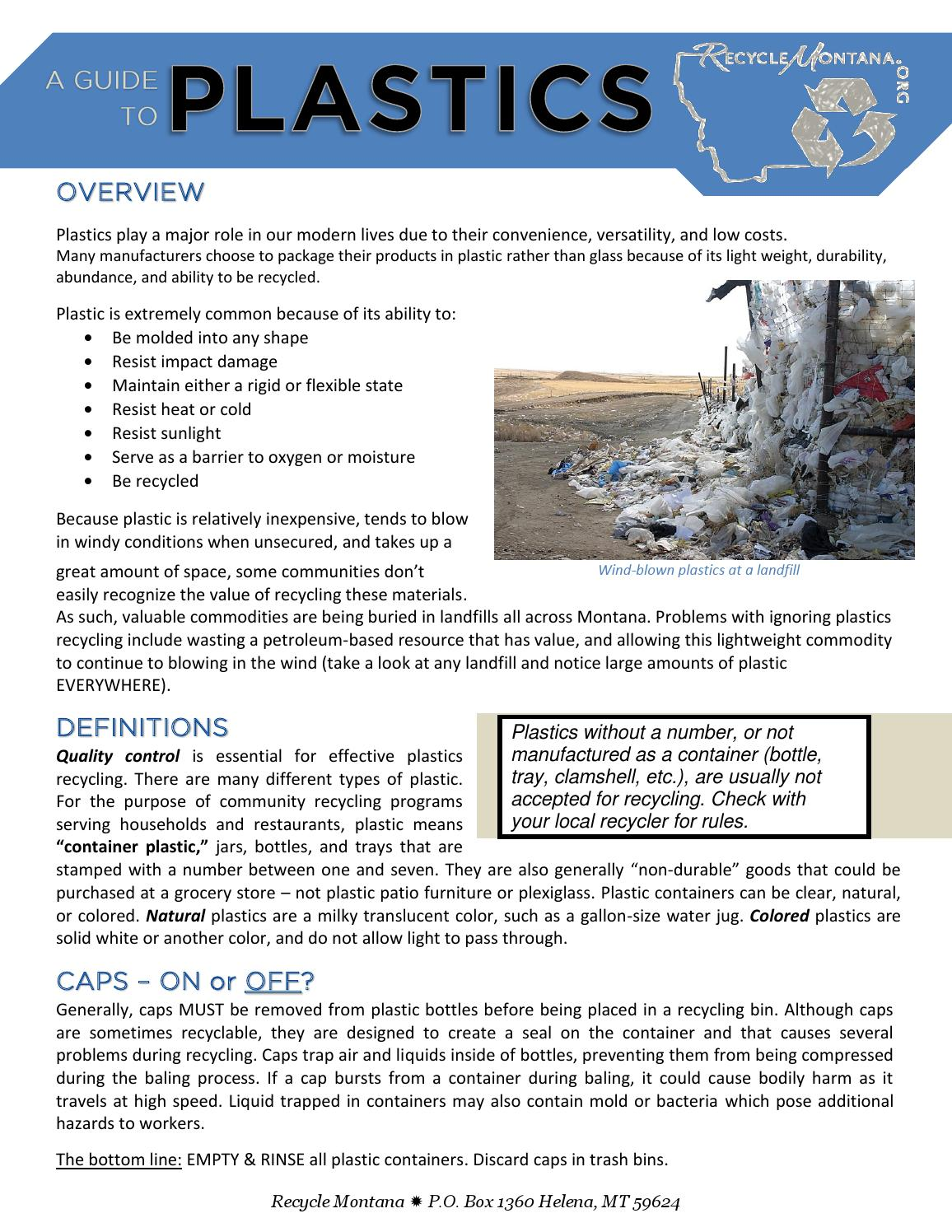 A guide to recycling plastics in montana by recycle montana issuu biocorpaavc Choice Image
