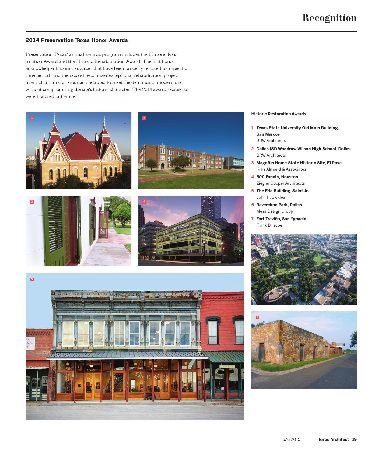 Texas Architect May June 2017 Color By Society Of Architects Issuu