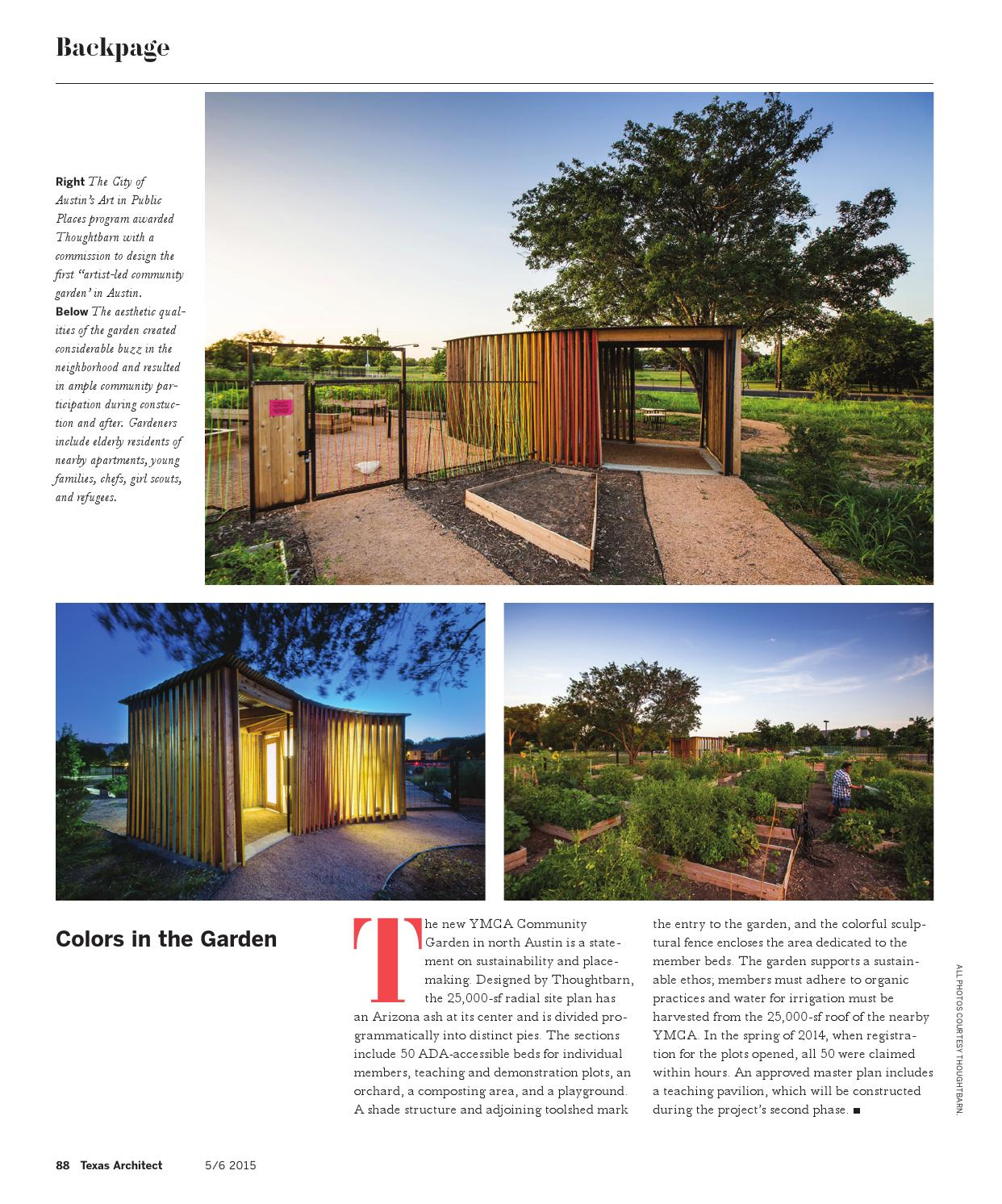 Texas Architect May/June 2015: Color by Texas Society of