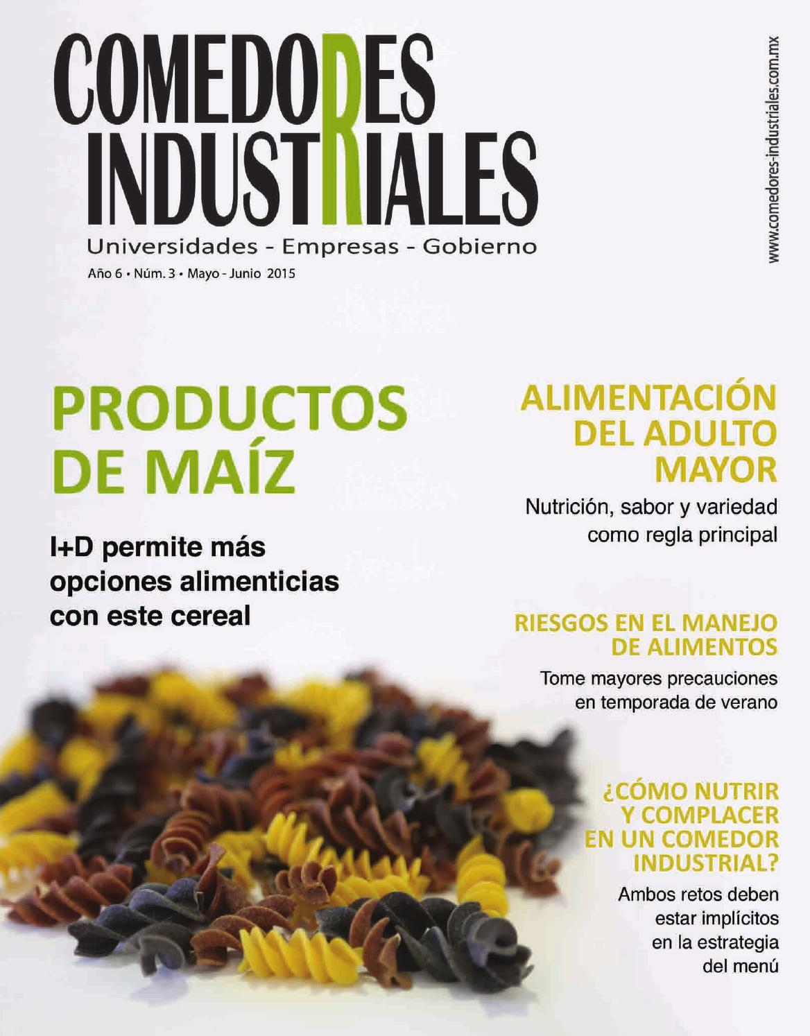 Comedores industriales mayo junio 2015 by editorial for Mision de un comedor industrial