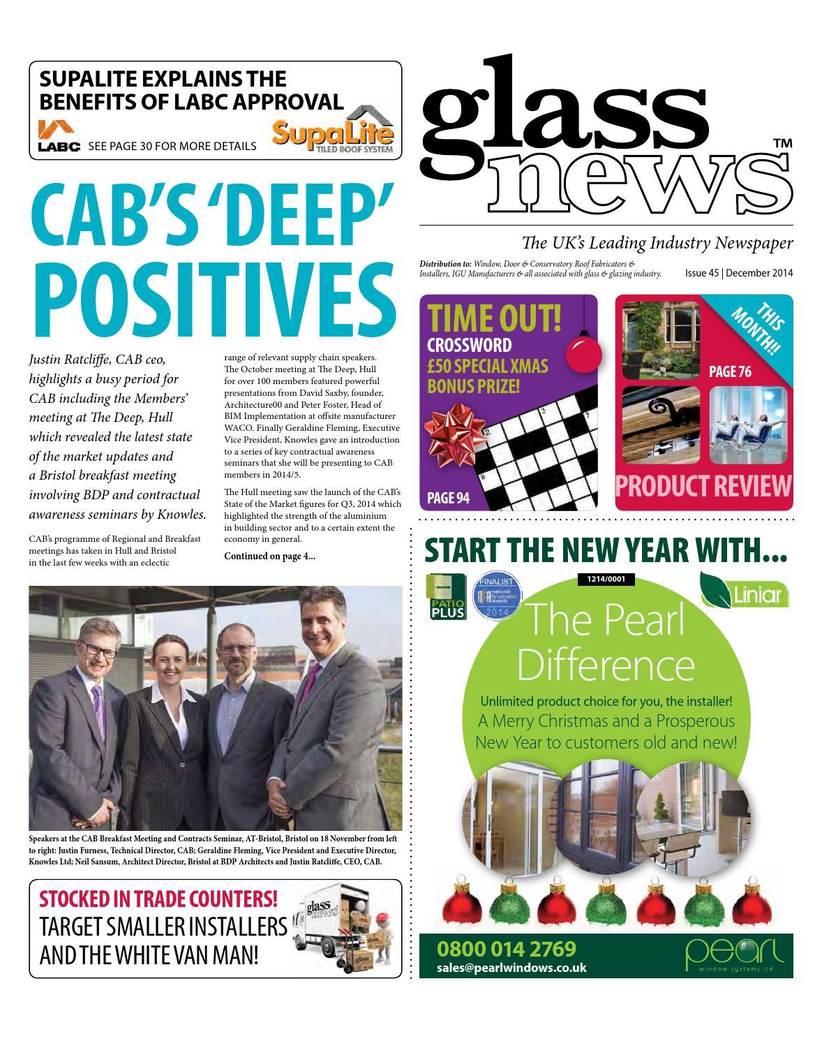 foto de Glass News December 2014 by Christina Shaw - issuu