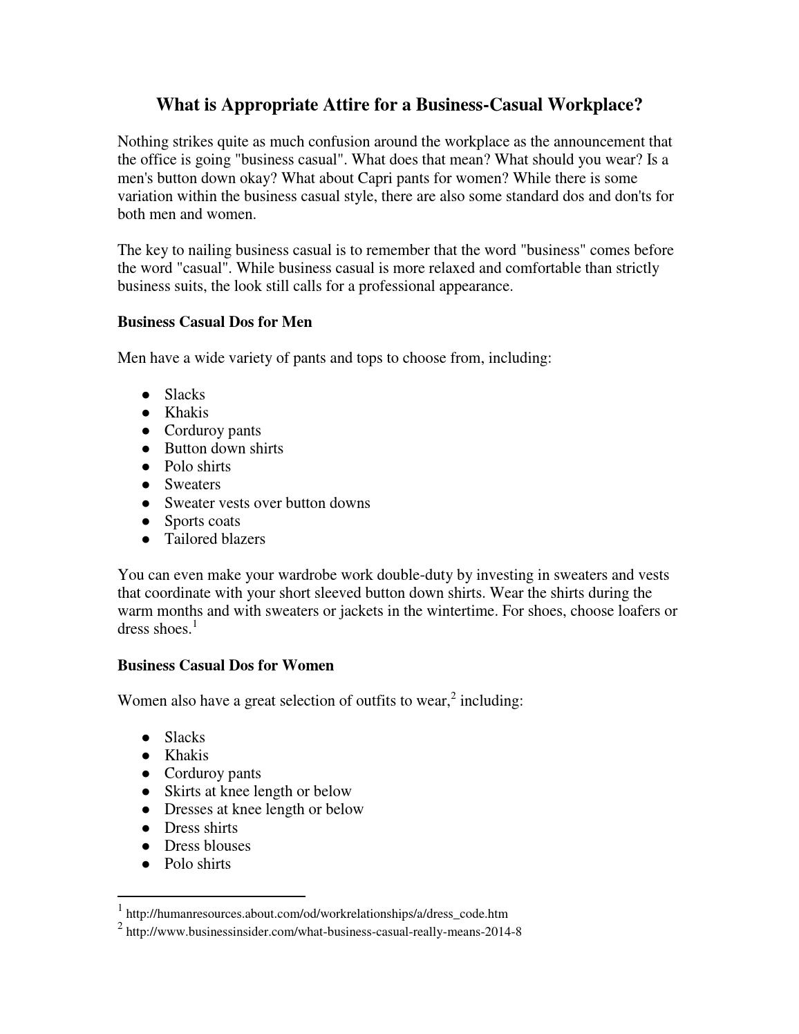7ccf3e0a627 What is Appropriate Attire for a Business-Casual Workplace  by Prudential  Overall Supply - issuu