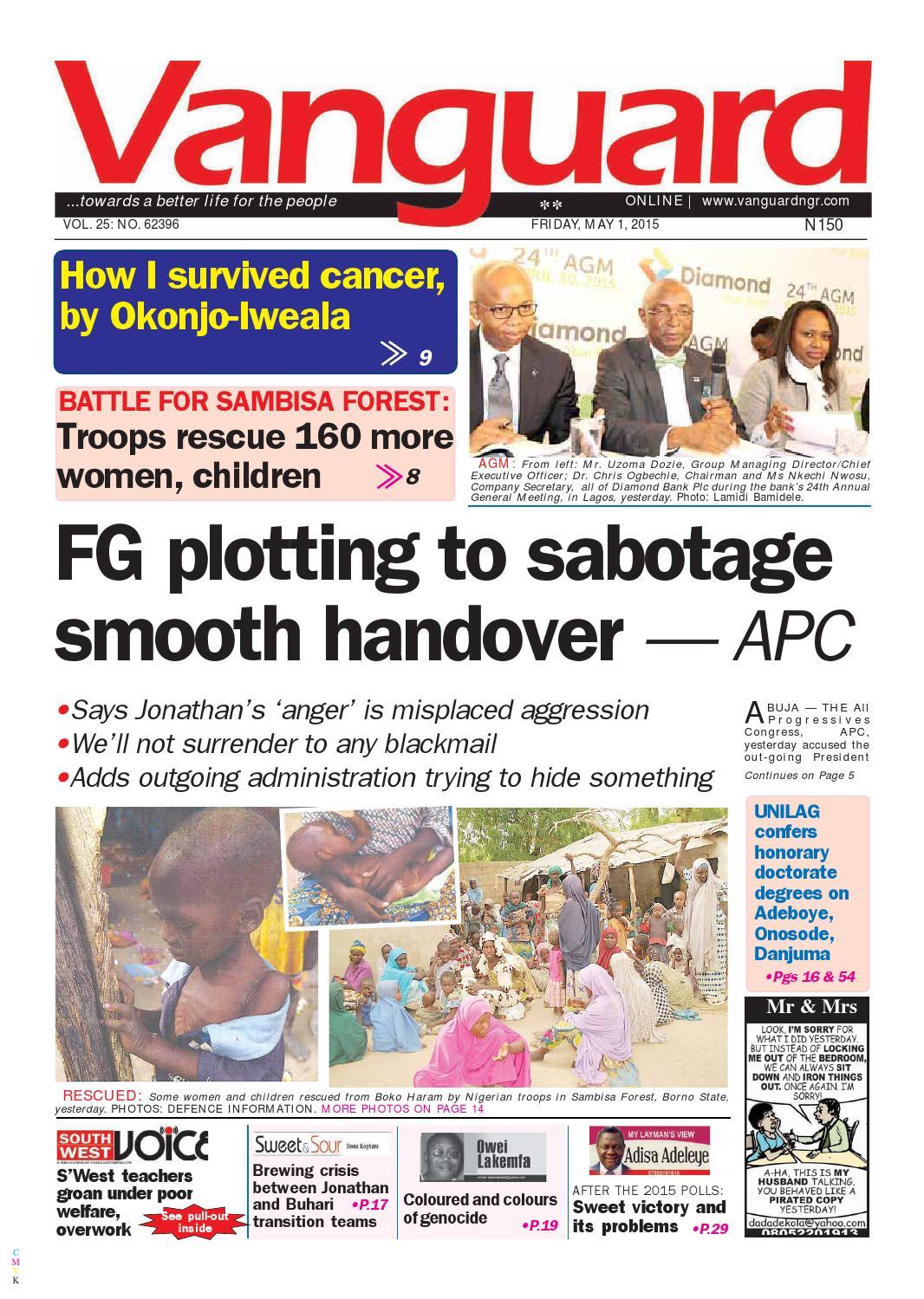 Fg Plotting To Sabotage Smooth Handover Apc By Vanguard Media Limited Issuu