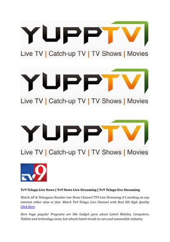 Tv9 News Live | Tv9 Telugu News Live | YuppTV India by YuppTV India
