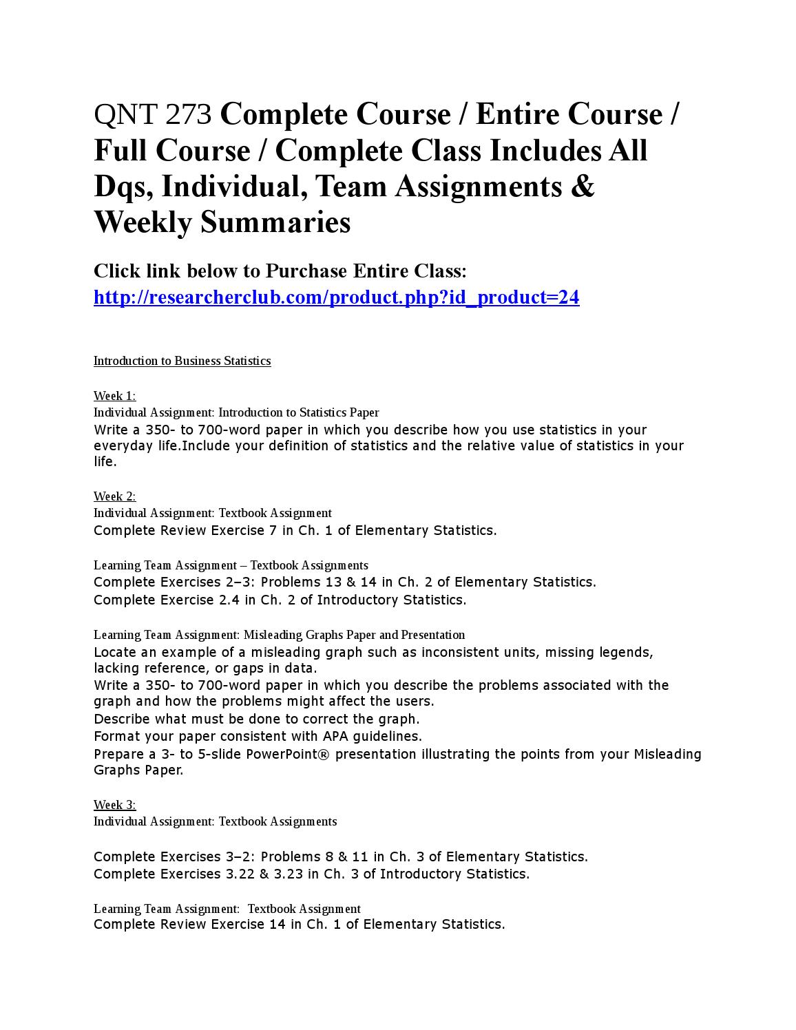 Qnt 273 complete course by katiecourin - issuu