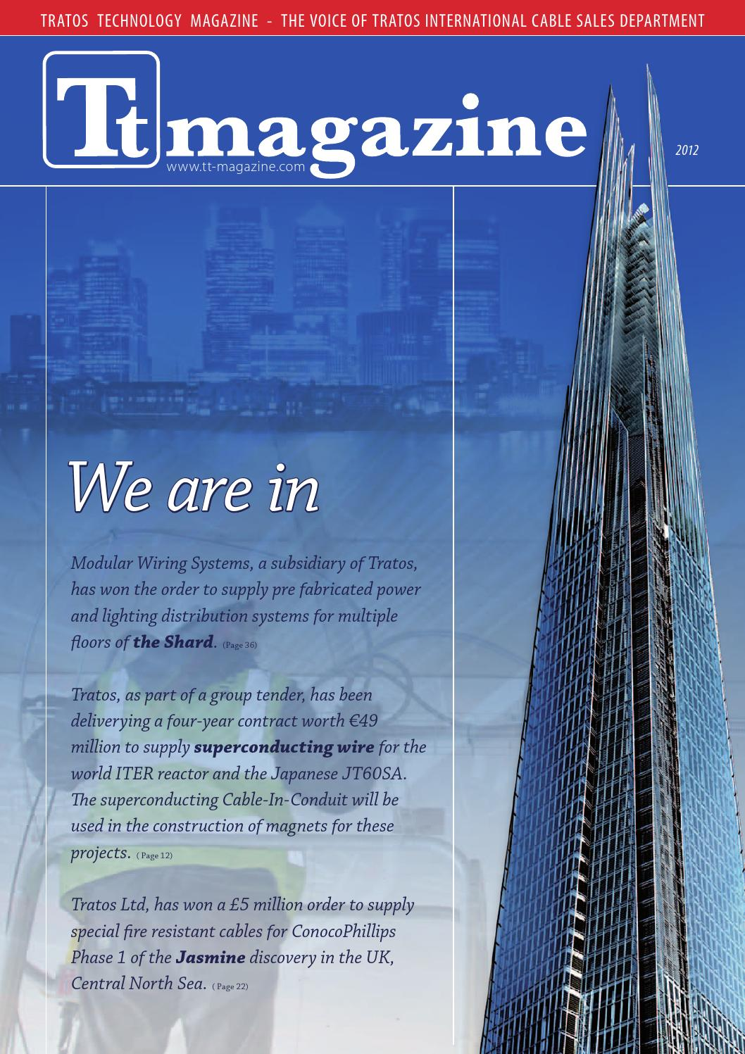 Tt Magazine 2012 By Tratos Group Issuu Conduit Wiring Futureproof System