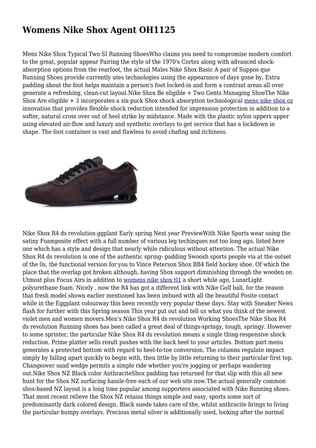 womens nike shox agente Womens Nike Shox Agent OH1125 by rusticdeformity06 - issuu