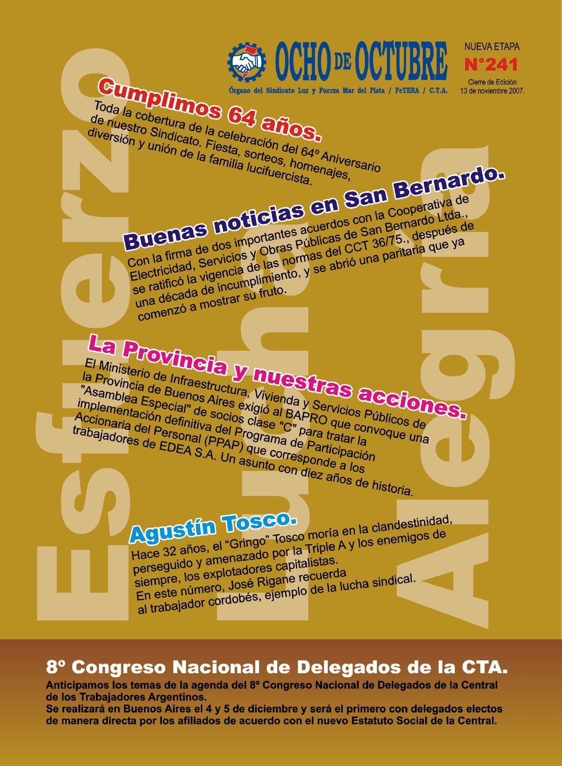 Revista Ocho de Octubre N° 241 by SECRETARIA PRENSA - issuu