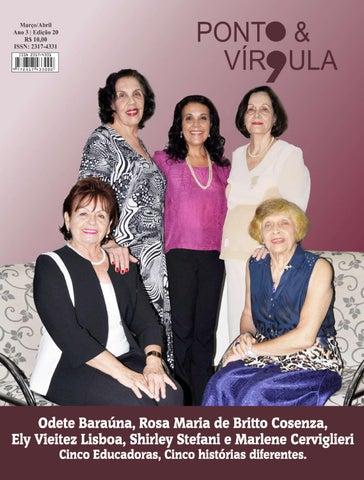 """Cover of """"Revista Ponto & Vírgula - Ano 3 - Edição 20 - Março/Abril 2015"""""""
