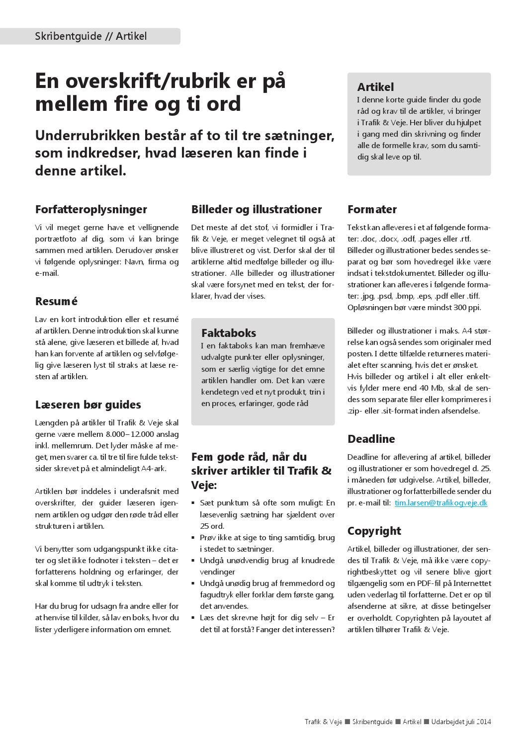 8942b2cd717c trafik-og-veje-skribentguide-artikel-2014-1 by Trafik Veje - issuu