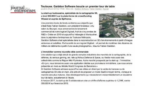 Revue de presse des pépinières de toulouse métropole 4 mai 2015 by