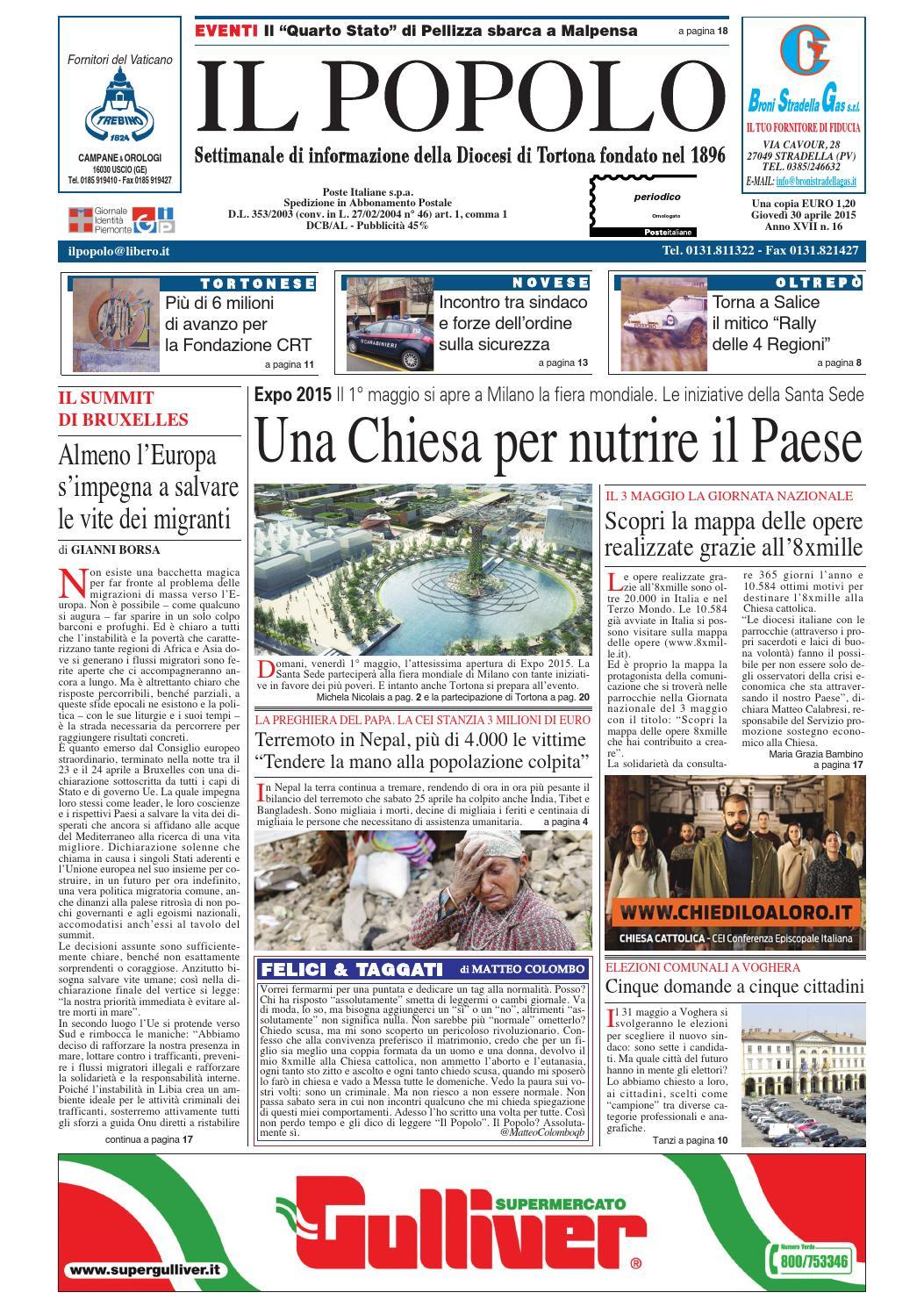193831ff59c9 Popolo 30 aprile 2015 by Diocesi Tortona - issuu