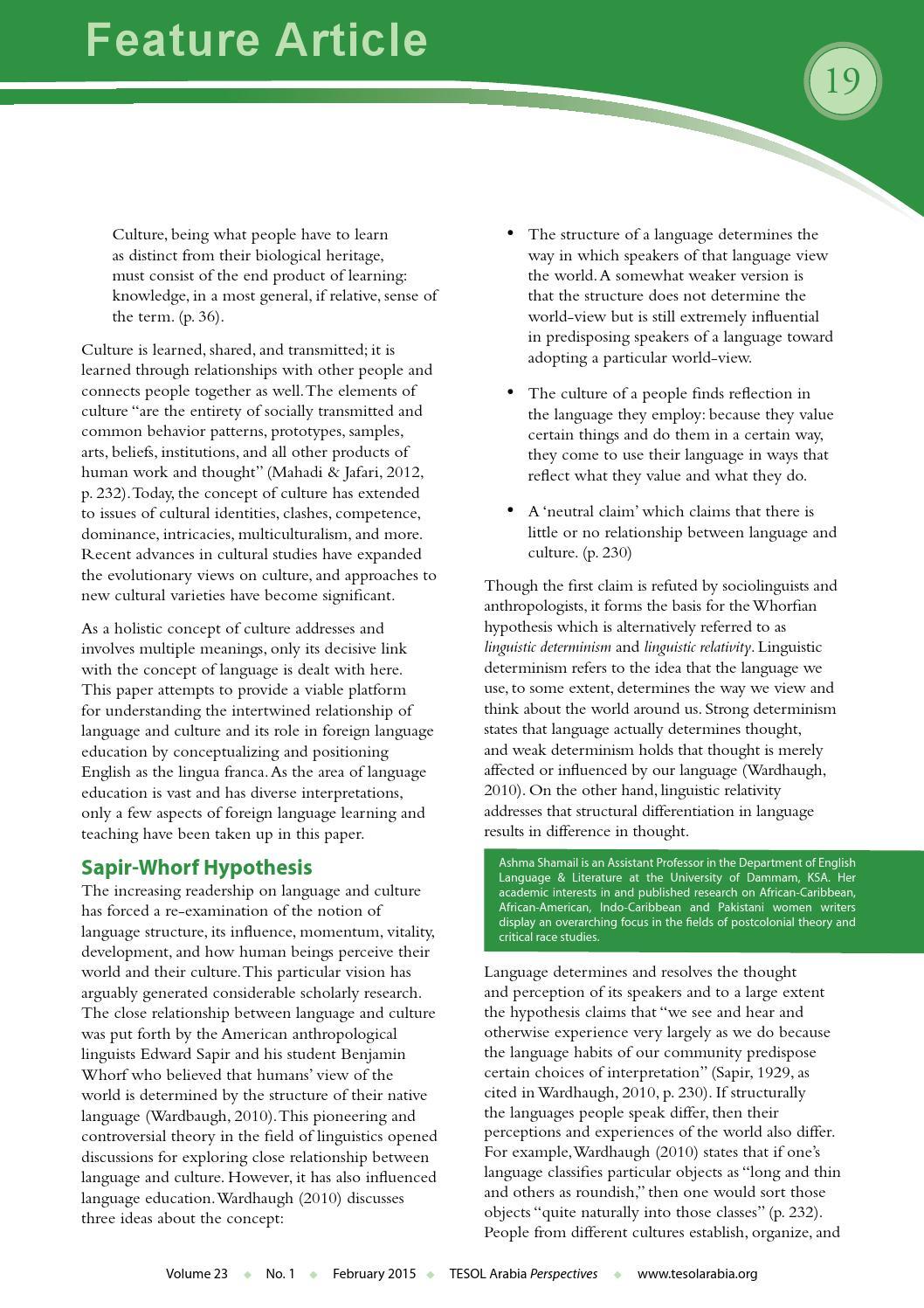 FEB By TESOL Arabia Perspectives Issuu - World no 1 language