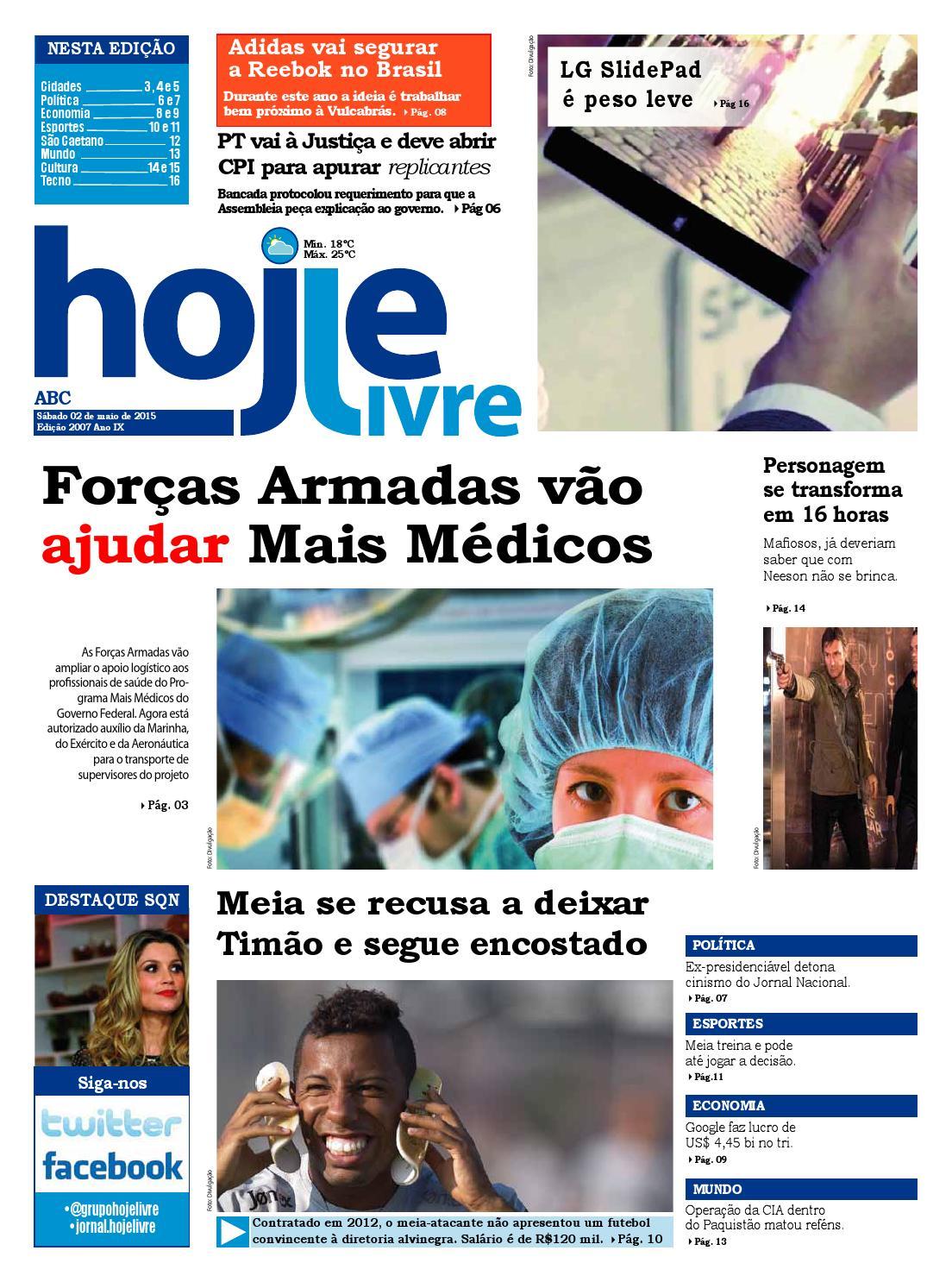 a911f5b78c4 Edição 2007 - 02 05 15 by Jornal Hoje Livre - issuu