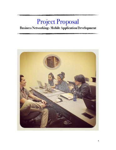 Project Proposal Business Networking Mobile App Dev By Corey