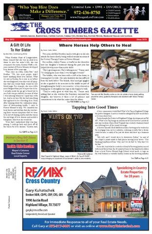 The Cross Timbers Gazette June 2017 - The Cross Timbers Gazette