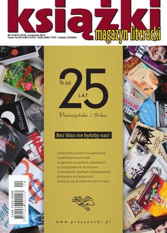 9f94fd8a995c49 MLK 4 2015 by Biblioteka Analiz Magazyn Literacki KSIĄŻKI - issuu