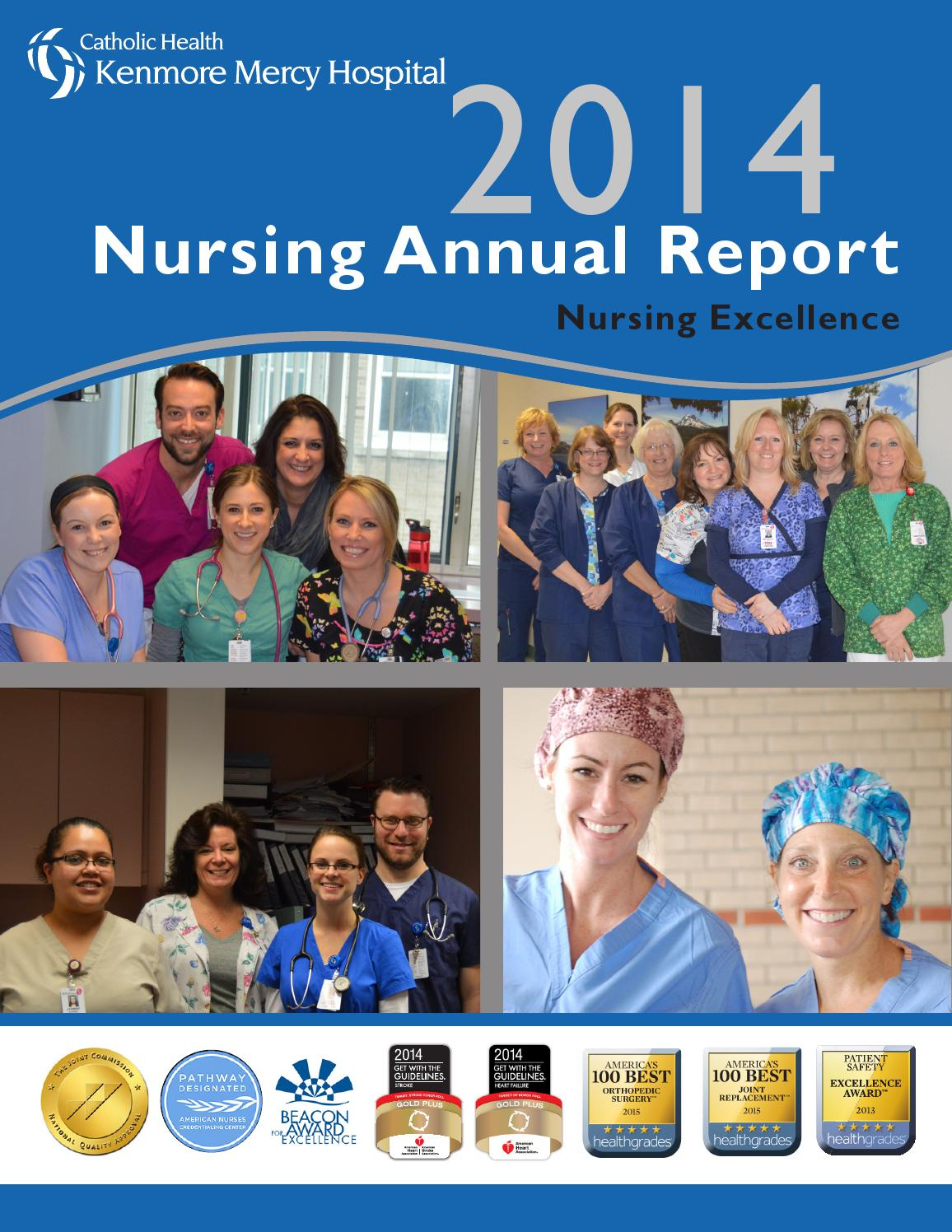 Kenmore Mercy Hospital - 2014 Nursing Annual Report by Catholic