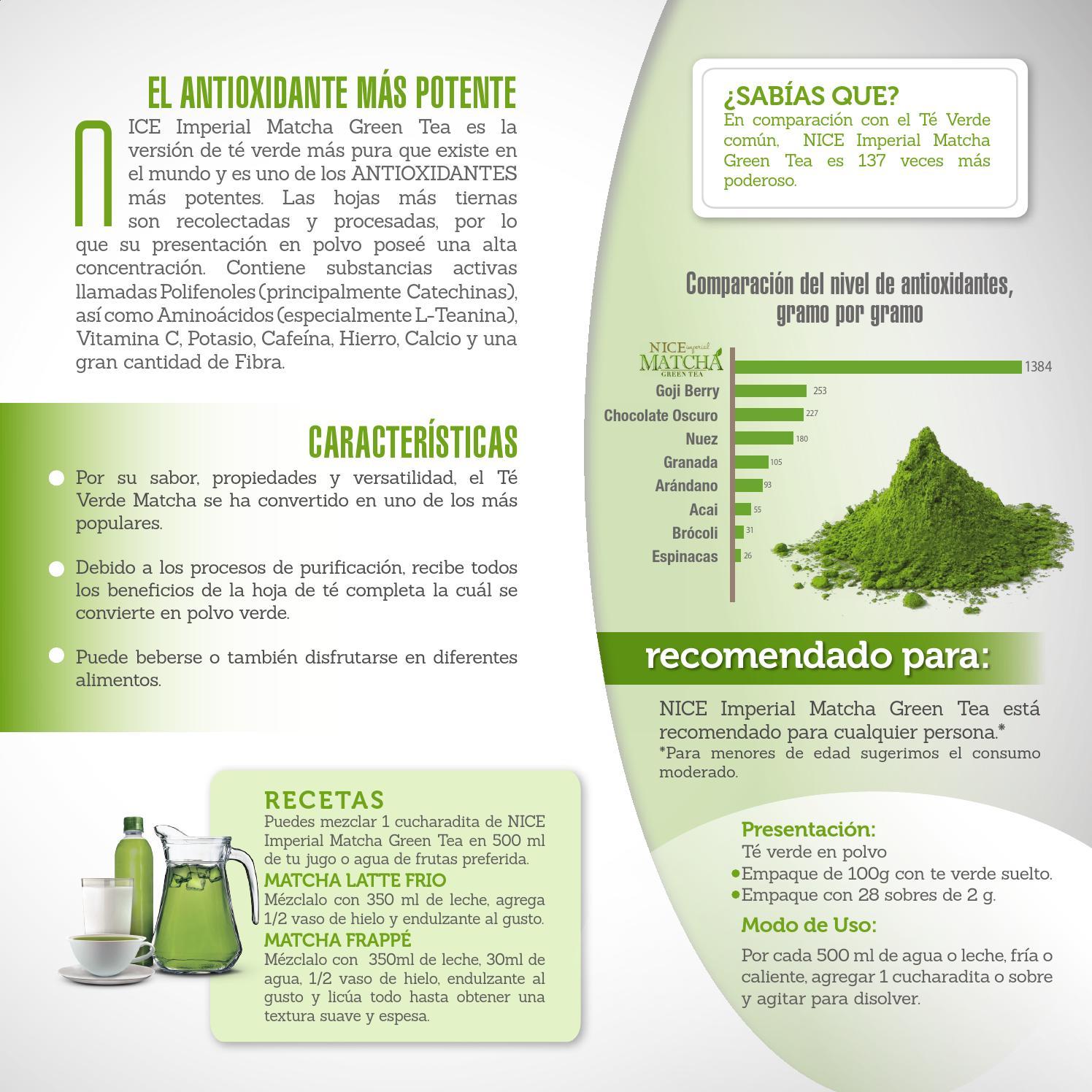 beneficios del te verde y limon