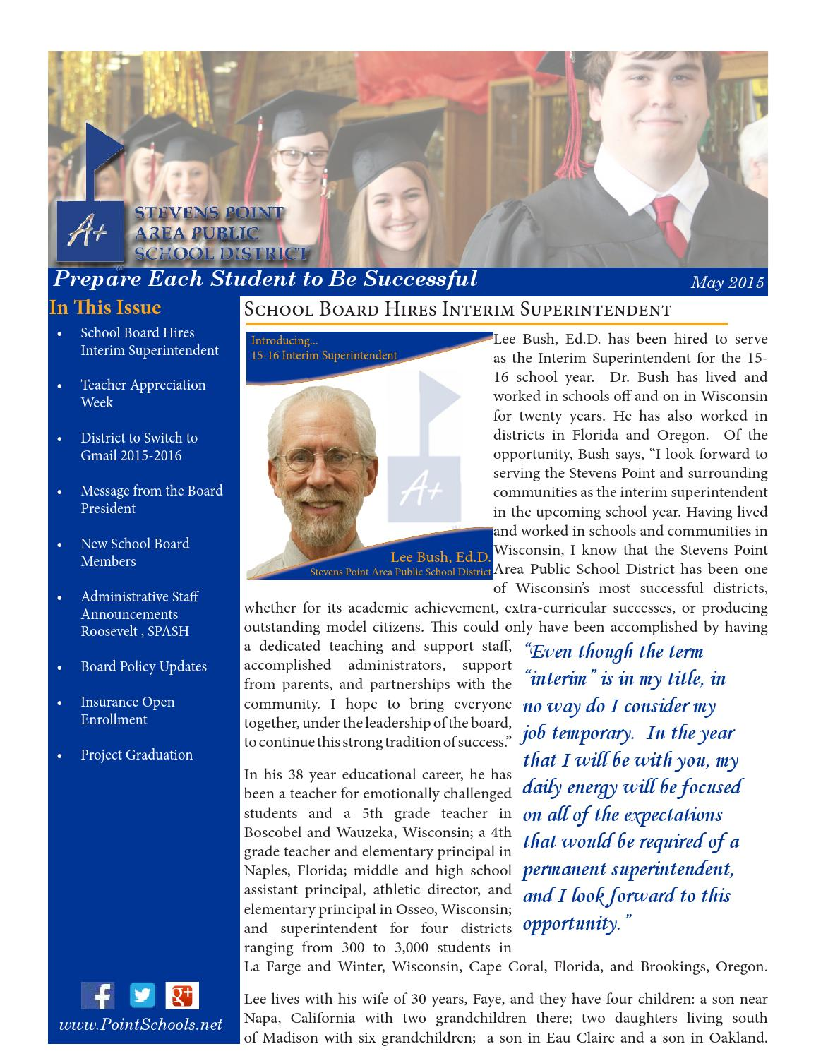 May 2015 Staff Newsletter by Stevens Point Area Public School District -  issuu