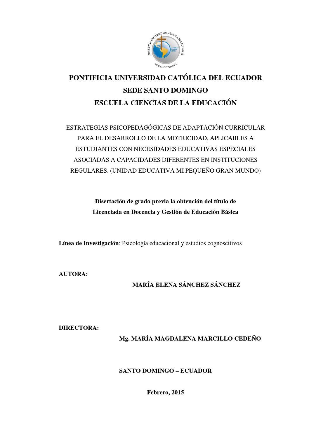 Estrategias psicopedagógicas de adaptación curricular para el ...