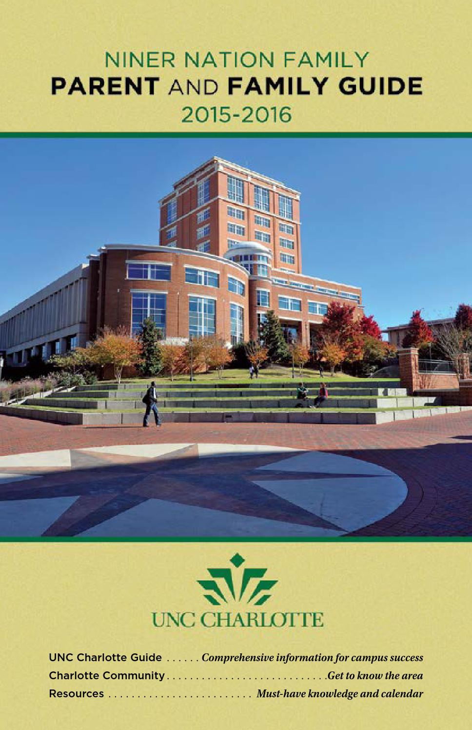 Uncc Calendar.University Of North Carolina At Charlotte 2015 2016 Guide For