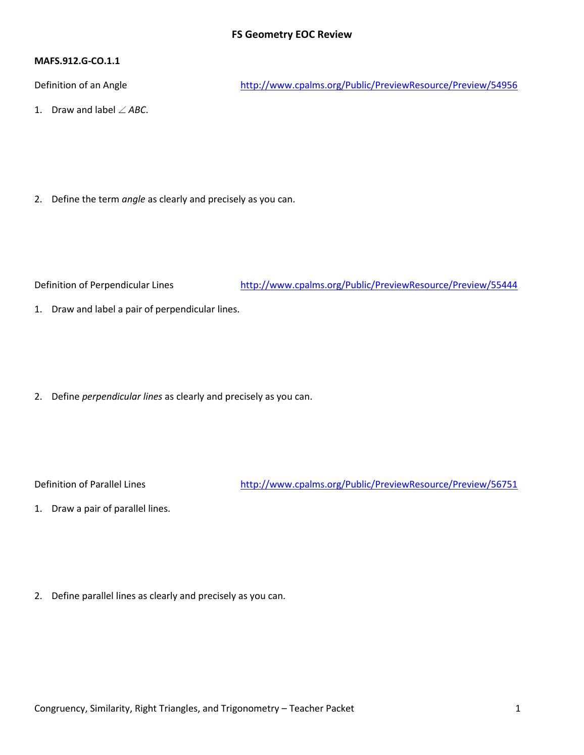 Eoc review answer sheet 3 by Aaron Galit - issuu