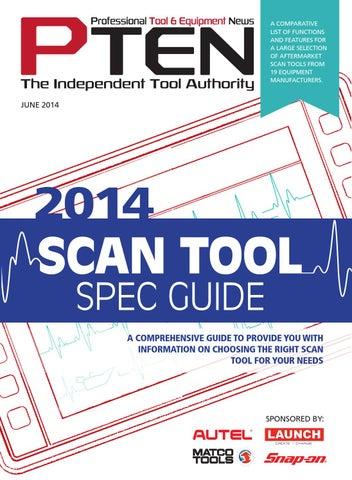 2014 scan tool spec guide pt 11543855 by J & M Enterprises