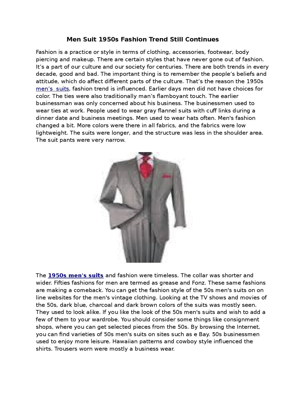 1950s Mens Suits By Suitusa Issuu