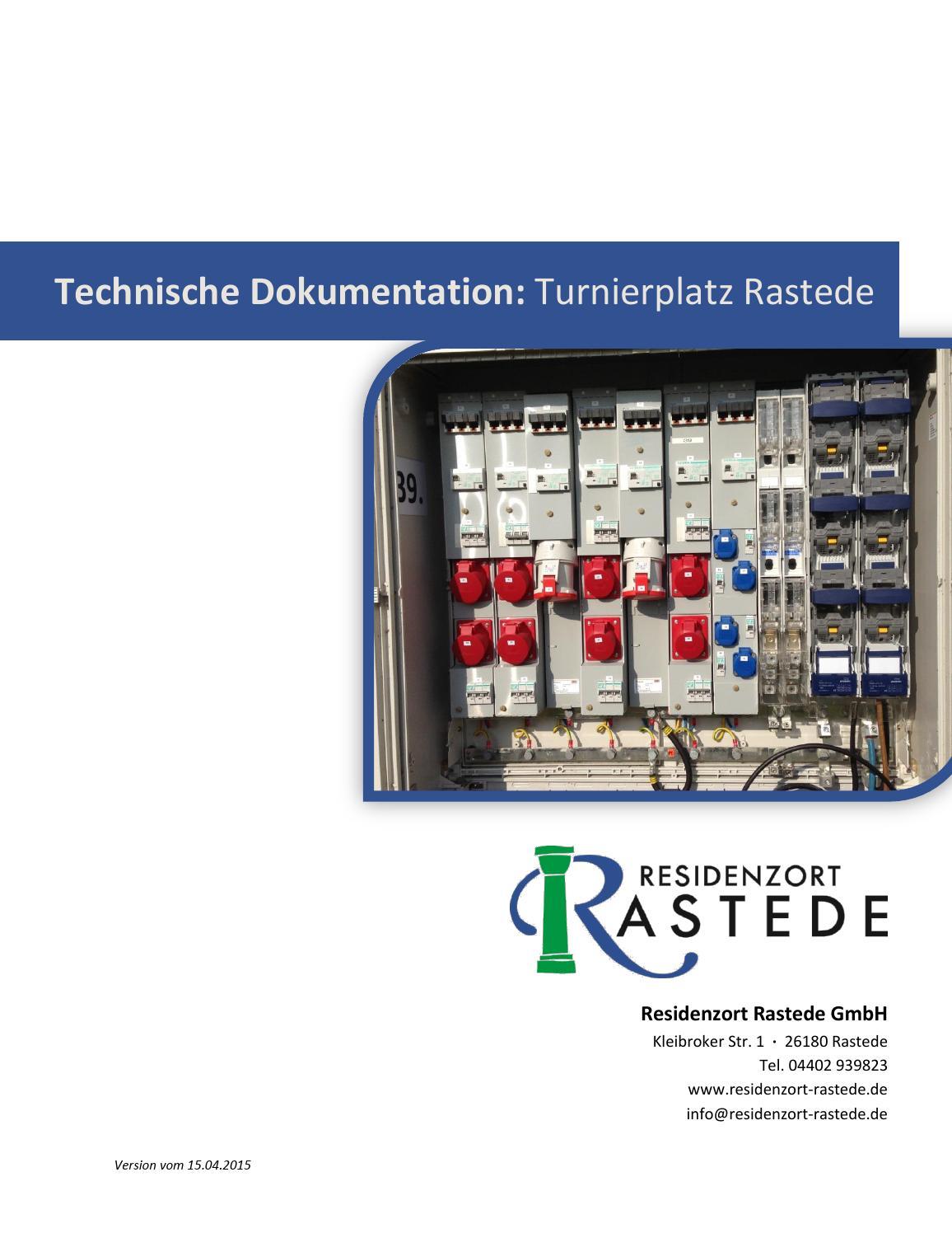 Technische Dokumentation: Turnierplatz Rastede by Residenzort ...