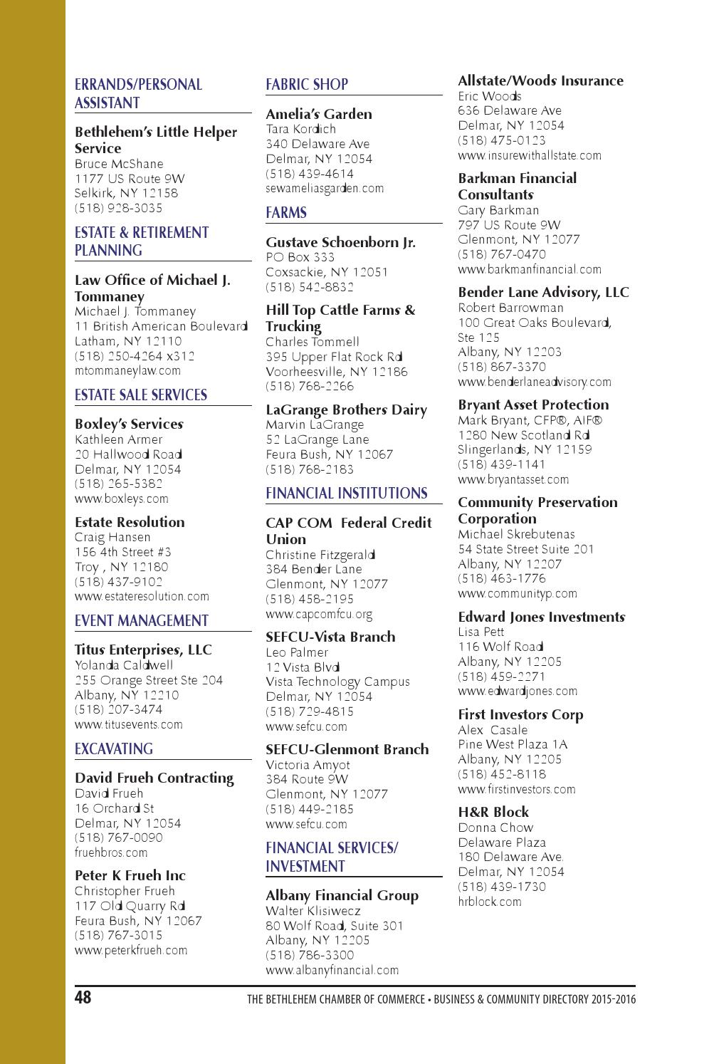 2015 bethlehem chamber directory by Spotlight Newspapers - issuu