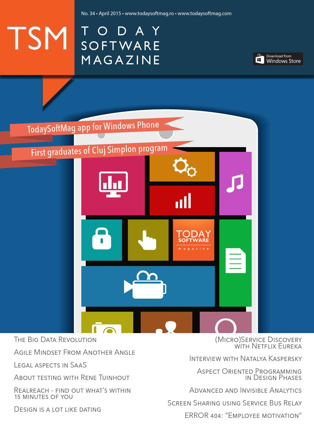 Issue 34 - April - Today Software Magazine by Today Software