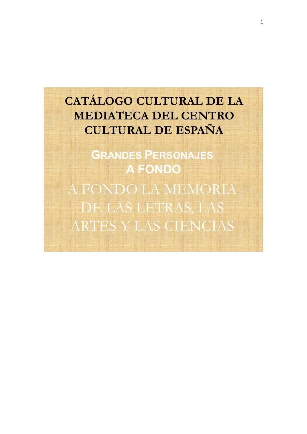 Catálogo mediateca : Grandes personajes a fondo by CCE Santiago - issuu