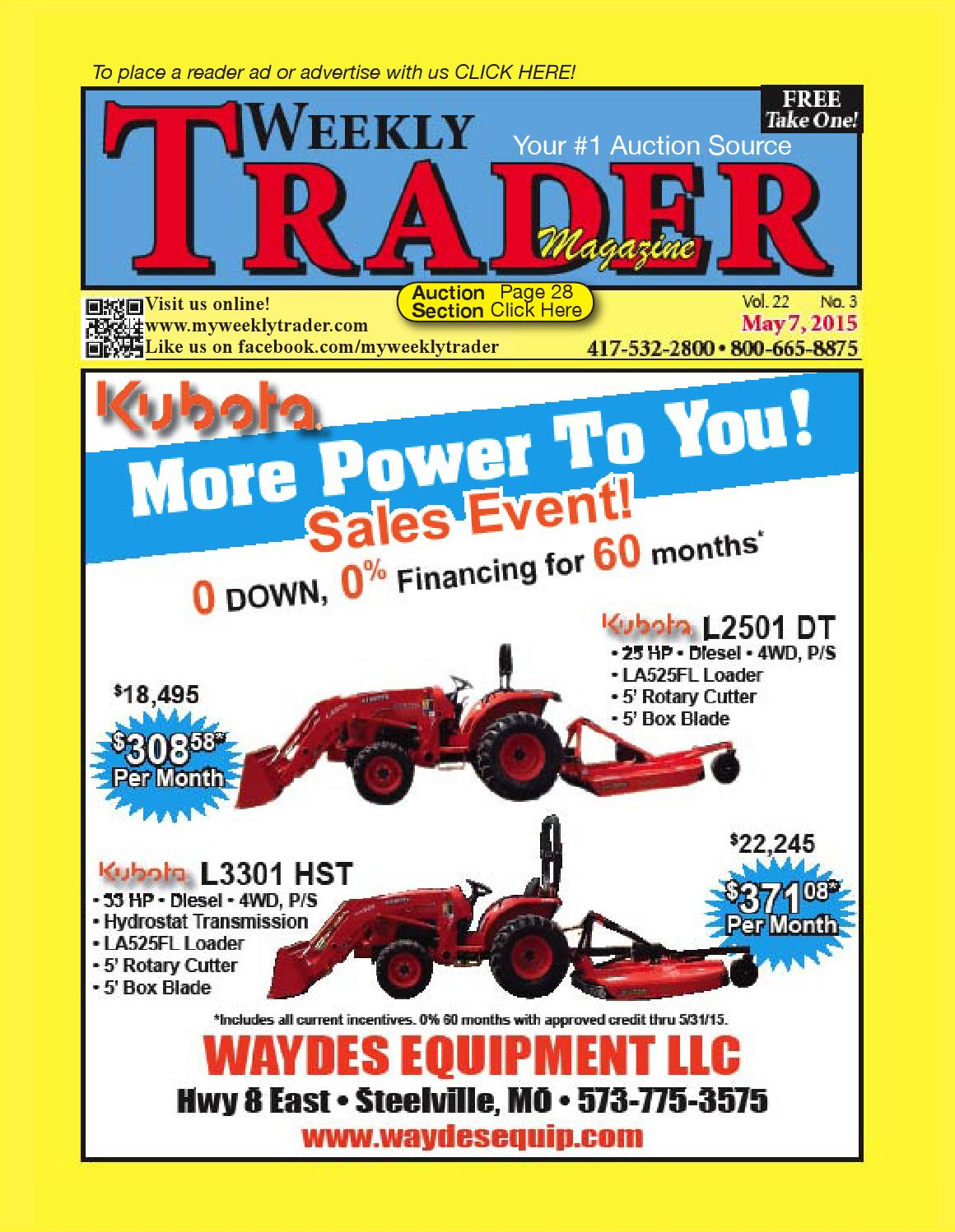 Weekly Trader May 7 2015 By Issuu Jeep Kc Lights Wiring 6310