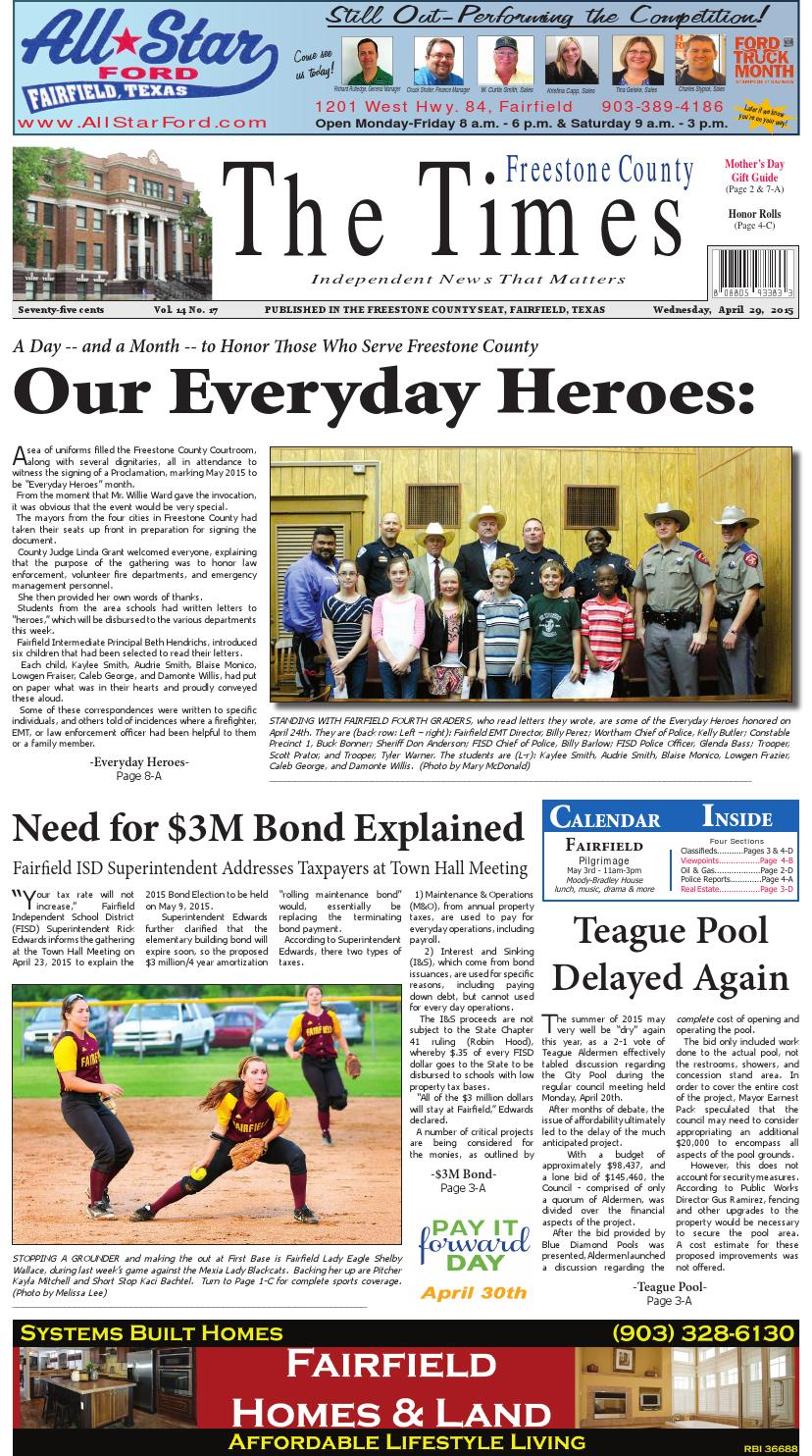 Freestonecountytimes042915 by Karen Leidy - issuu
