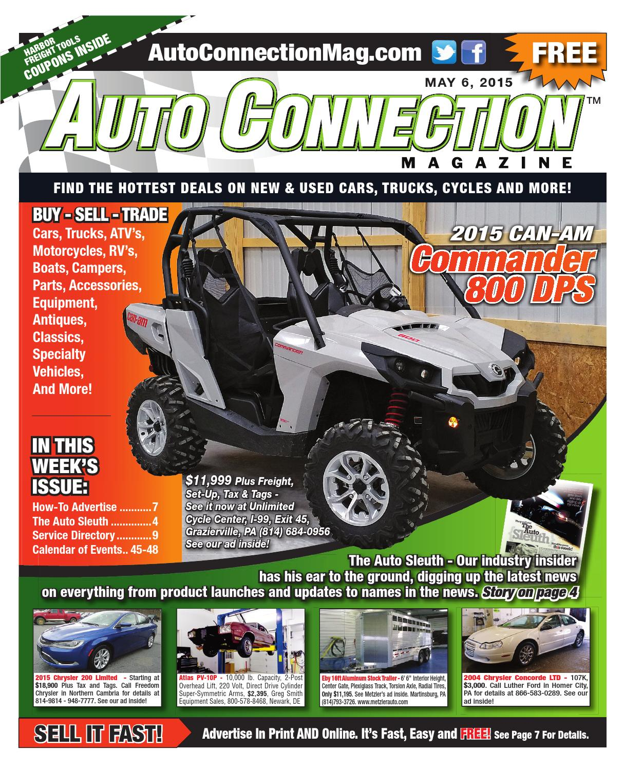 05 06 15 Auto Connection Magazine By Issuu 0 Dodge Dakota Custom Fit Vehicle Wiring Tow Ready