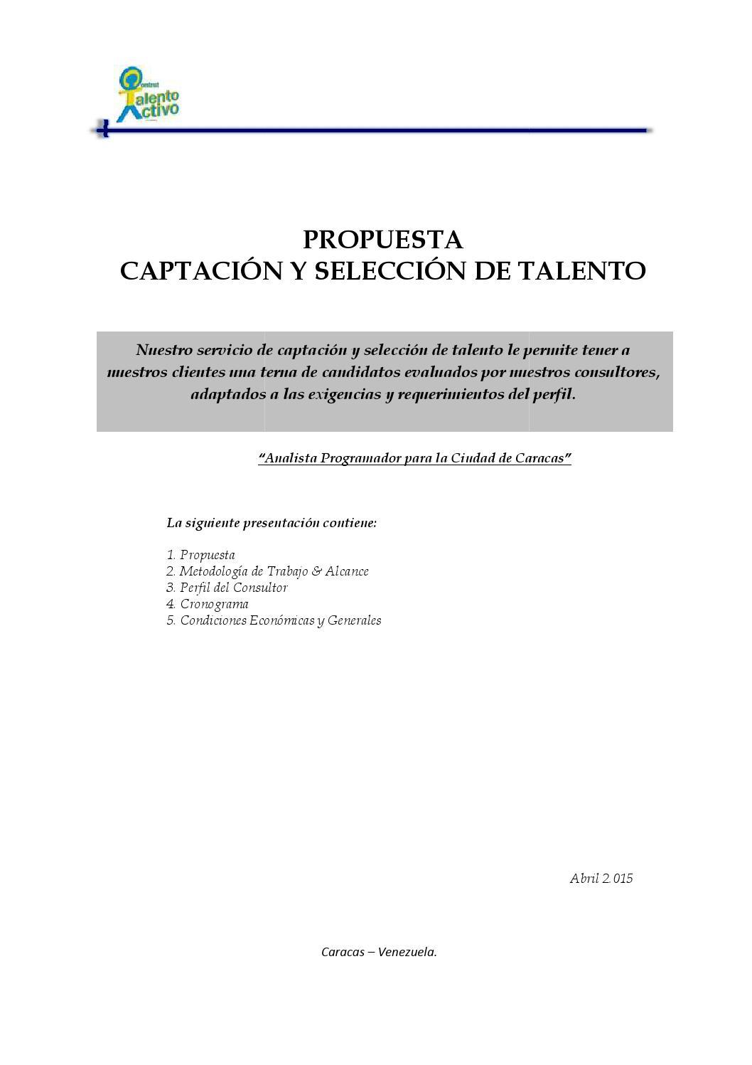 Propuesta de captacion analista programador by Delimaconsultores ...