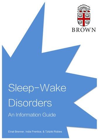Sleep Wake Disorders Info Packet By Karintapper Issuu